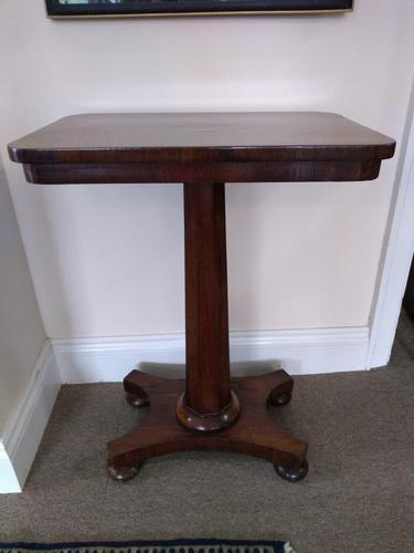 Mahogany and Rosewood Side Table (1 of 3)