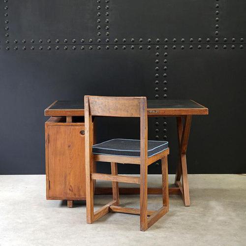 X- Leg Administrative Desk by Pierre Jeanneret c.1960 (1 of 7)