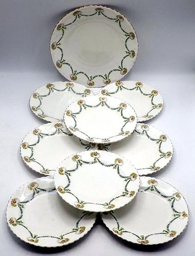 Antique 9 Piece Sandwich Set - Samuel Radford - Daisy Chain 1913-1924 (1 of 6)