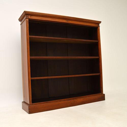 Antique  Victorian  Walnut Open Bookcase (1 of 12)