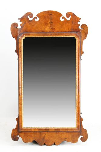 Large Antique George II Walnut Fretwork Mirror (1 of 13)