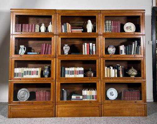 Three Stacking Bookcases In Light Oak Composed 4 Element-20th Century-france (1 of 11)