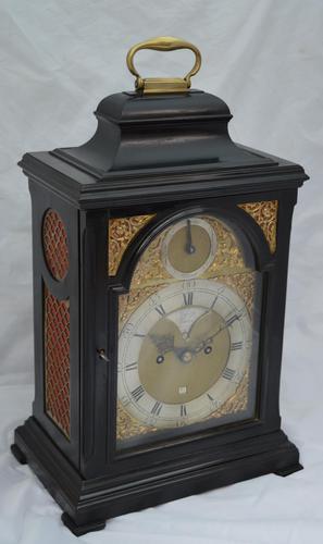 Josia Jessop London Twin Fusee Bracket Table Clock (1 of 10)