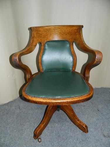 Oak Desk Chair - Adjustable (1 of 7)