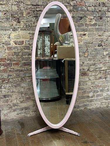 Pink 1960's Oval Mirror (1 of 5)