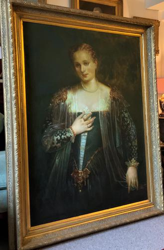 Oil Portrait Painting Wealthy European Noble Lady (1 of 10)