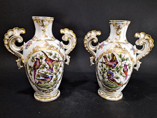 Pair of Hand Painted Porcelain Vases (1 of 6)