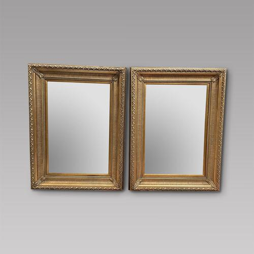 Pair of Large Wall Mirrors with Bevelled Plates (1 of 3)
