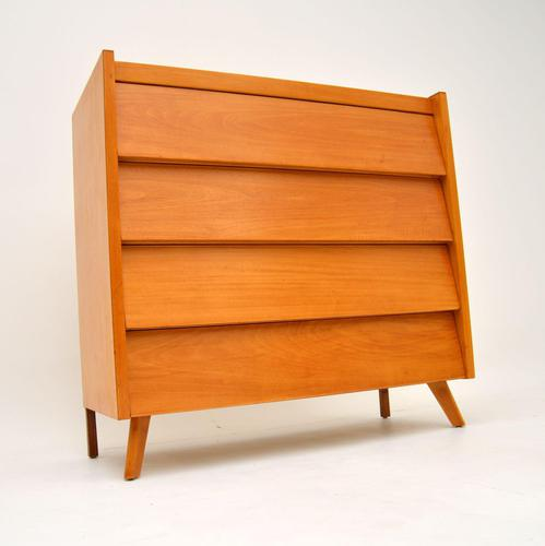 1950's Vintage Satin Birch Chest of Drawers (1 of 12)