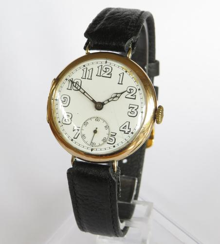Gents 9ct Gold Vertex Wrist Watch, 1925 (1 of 6)