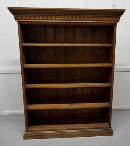 Arts & Crafts Open Oak Bookcase with Secret Compartment (1 of 7)