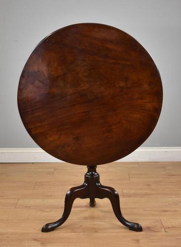 George III Mahogany Tilt Top Table Tripod Table (1 of 7)