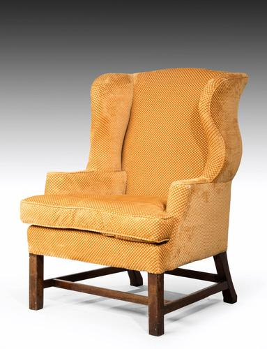 George III Period Mahogany Wing Chair (1 of 5)
