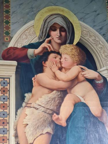 William-Adolphe Bouguereau 'la Rochelle 1825-1905' Copy of Madonna Enthroned (1 of 8)