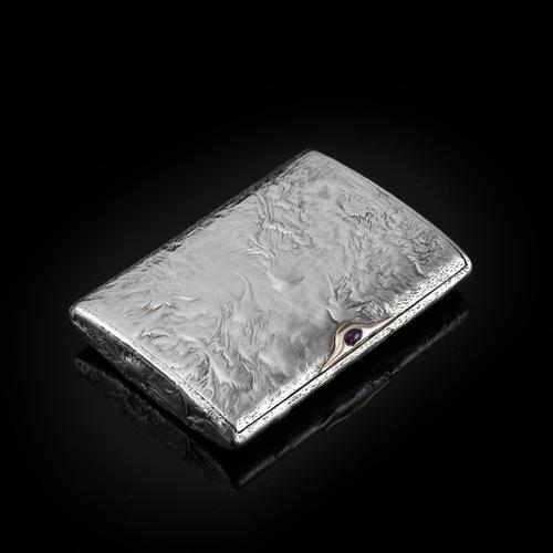 Antique Imperial Russian Solid Silver Samorodok Snuff Box Case - Rudolf Veyde c.1900 рудольф Вейде (1 of 15)