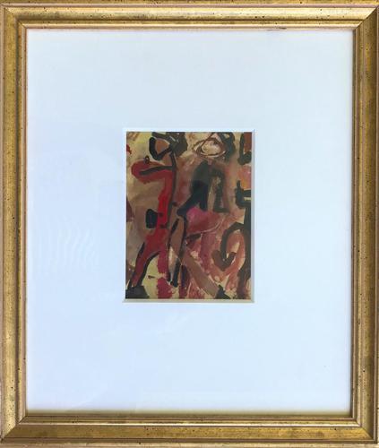 Original Gouache Painting '2 Figures Dancing' by Doreen Heaton Potworowski. 1920-2014. Initialled c.1970. Framed (1 of 1)