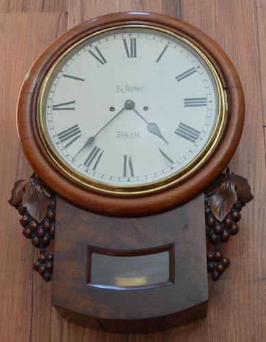 Edwin Fisher Bath Twin Fusee Striking Wall Clock (1 of 5)