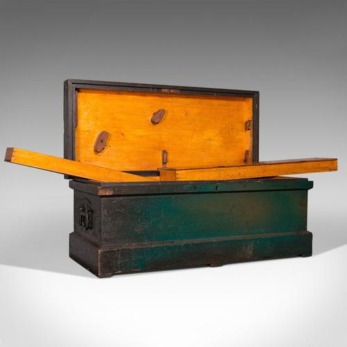 Antique Shipwright's Chest, English, Craftsman's Tool Trunk, Victorian c.1900 (1 of 12)