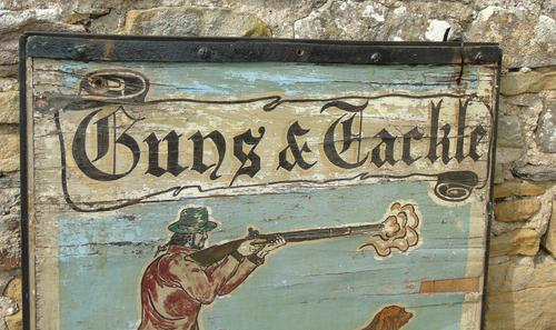 Advertising Sign 'Guns and Tackle' (1 of 6)