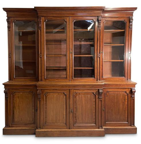 Mid-19th Century Breakfront Bookcase (1 of 7)