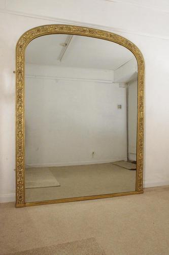Painted and Parcel-Gilt Arch Top Overmantle Mirror by Nosotti (1 of 15)