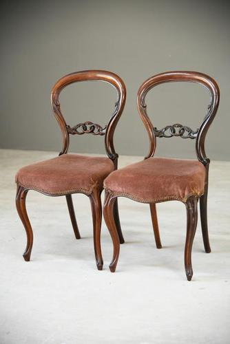 Pair of Rosewood Dining Chairs (1 of 10)