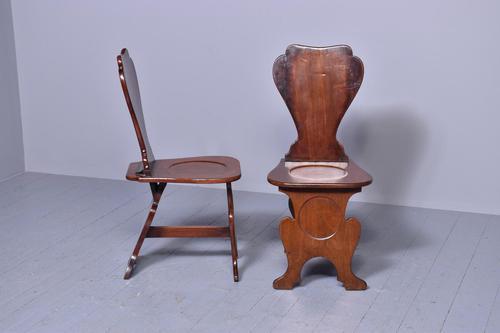 Pair of 18th Century Mahogany Sgabello Hall Chairs (1 of 5)