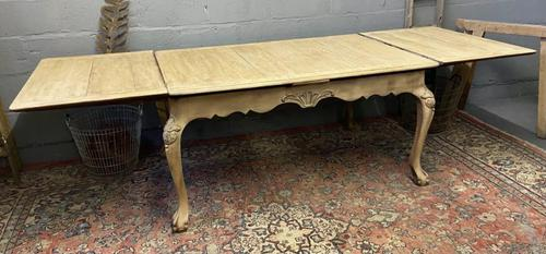 French Bleached Oak Extending Dining Table (1 of 17)