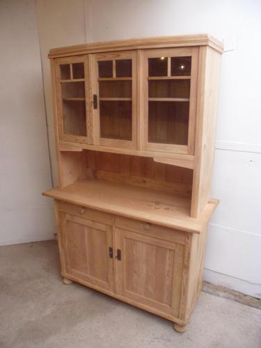 A Lovely 3 Door Antique/Old Pine Glazed Kitchen Dresser To Paint/Wax (1 of 10)