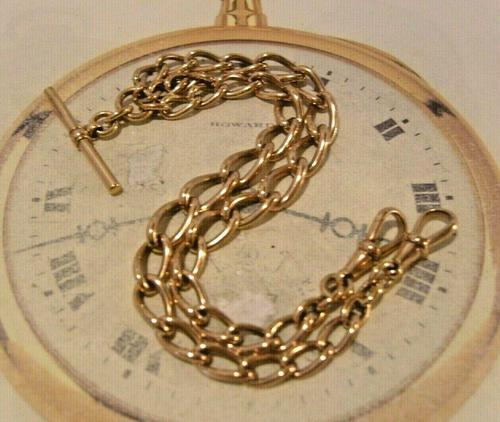 Victorian Pocket Watch Chain 1890s Antique 18ct Rose Rolled Gold Albert With T Bar (1 of 10)