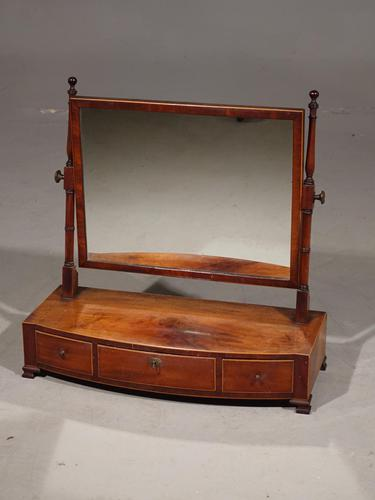 Attractive Regency Period Bow Fronted Dressing Mirror (1 of 4)