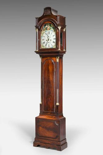 19th Century Mahogany Painted Dial Longcase Clock (1 of 6)