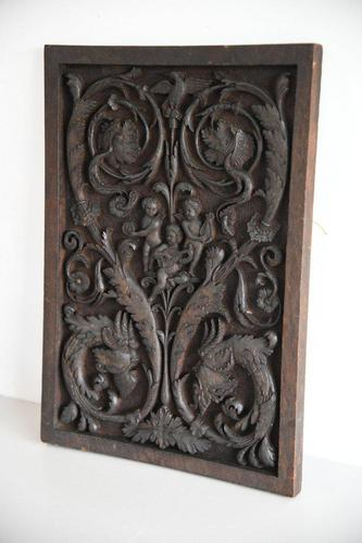 Carved Wood Ornamental Plaque (1 of 11)