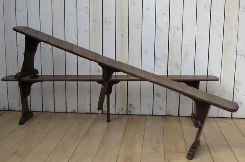 Pair of Antique Oak Benches (1 of 7)