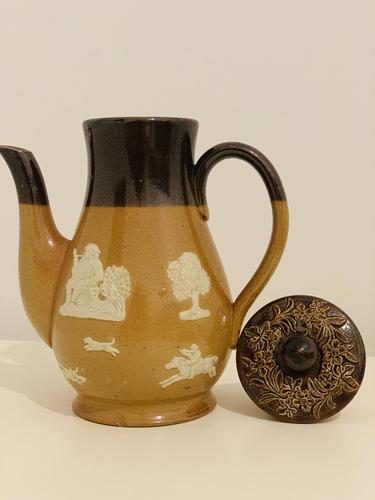Victorian Doulton Lambeth Coffee Pot (1 of 6)