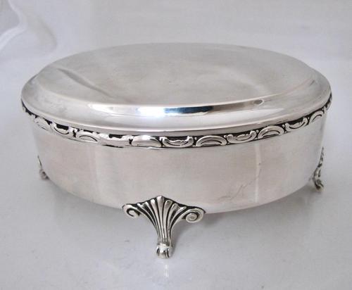 Elegant Fine Quality Swedish Silver Dressing Table Box c.1900 (1 of 9)