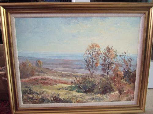 Charles Brooker Oil on Board - Ashdown Forest (1 of 4)
