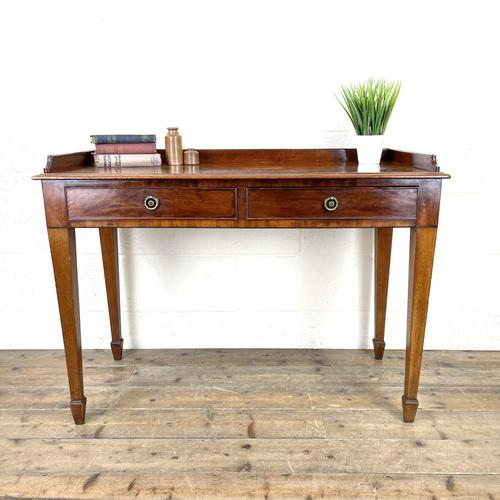 Victorian Two Drawer Mahogany Side Table (1 of 13)