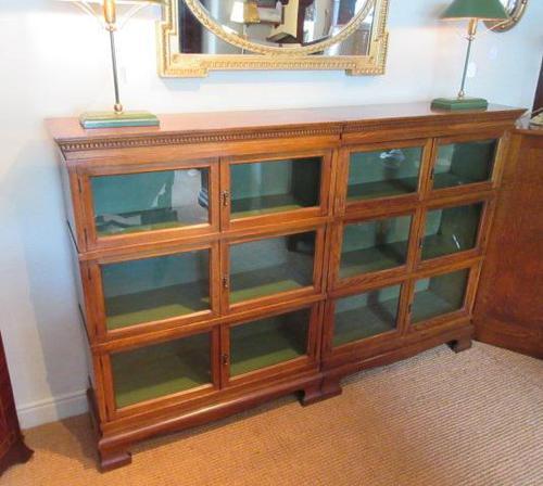 Superb Antique Oak Barrister's Double Glazed Bookcase (1 of 11)