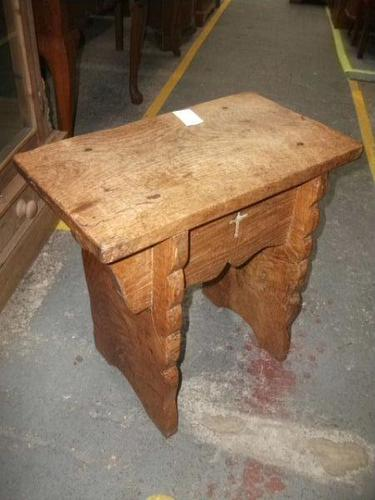 Solid Elm Church Stool (1 of 3)