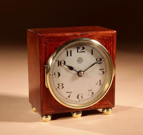 Early Electrical Ato Art Deco Small Desk / Mantel Clock (1 of 8)