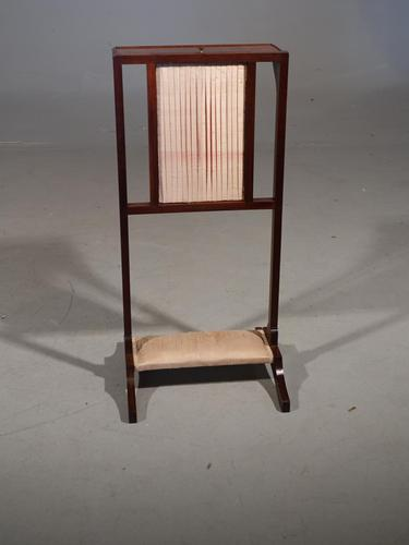 Late Victorian or Early Edwardian Mahogany Screen Table (1 of 5)