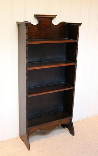 Arts & Crafts Dark Oak Open Bookcase (1 of 9)