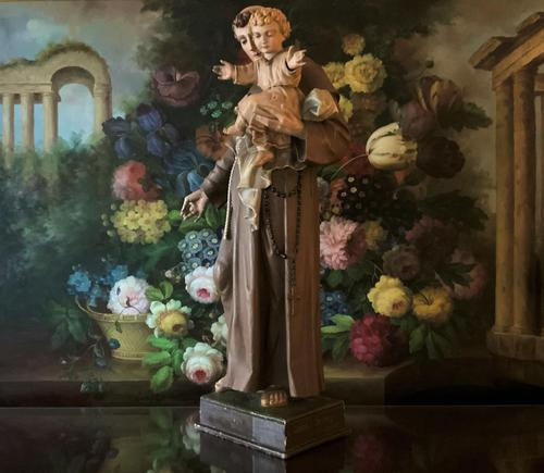 Bohumil Kafka RARE Carved Statue Sculpture St Anthony & Jesus (1 of 32)