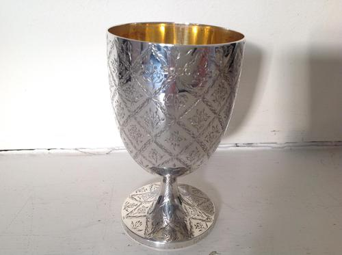 Antique Victorian Silver Goblet - 1862 (1 of 5)