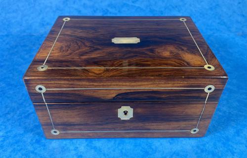 Rosewood Jewellery Box c.1830 (1 of 9)