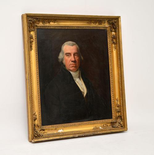 Antique Giltwood Framed Oil Painting Portrait (1 of 12)