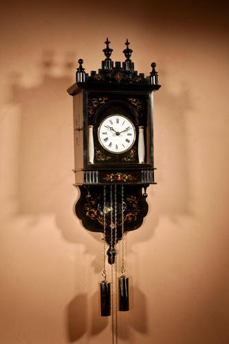 Very Decorative & Original Black Forest Wall Clock (1 of 9)