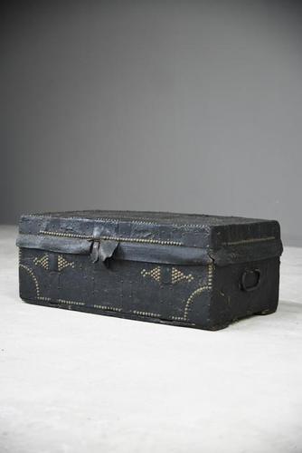Georgian Leather Studded Trunk (1 of 13)