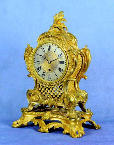 Fine English Ormolu Fusee Mantle Clock - Webster of London (1 of 9)